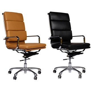 Eames Style Premium Executive Black Leather Office Chair