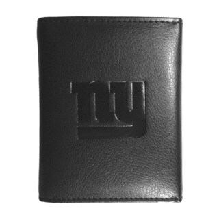 NFL Sports Team New York NY Giants Embossed Tri-fold Black Leather Wallet
