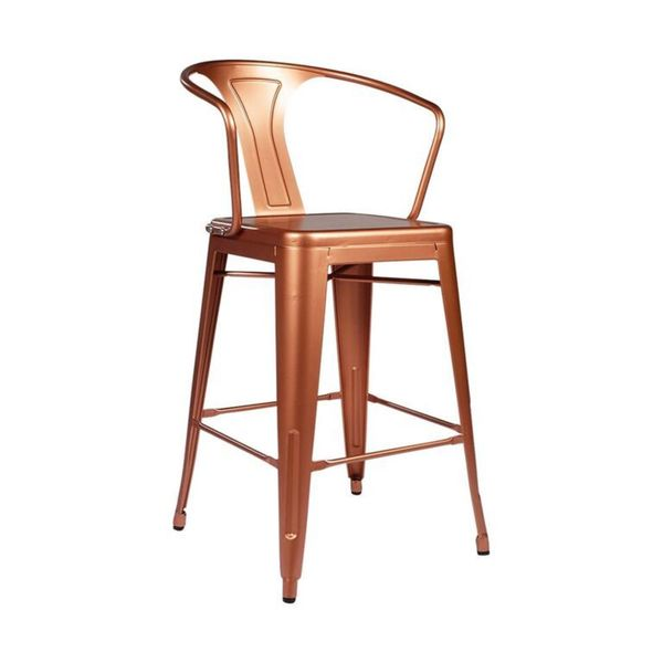 Tolix Style Copper Arm Counter Stool Free Shipping Today