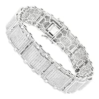 Luxurman 10k Gold Men's 5 1/4ct TDW Diamond Bracelet (H-I, SI1-SI2)