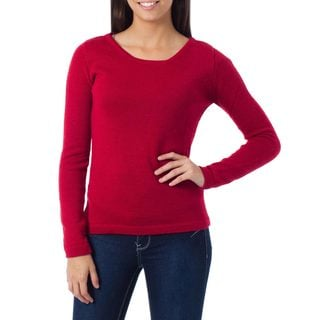 Alpaca 'Ruby Charm' Sweater (Peru)
