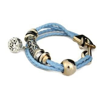 Destination Oils Lava Stone Diffuser Braided Turquoise Blue Bracelet