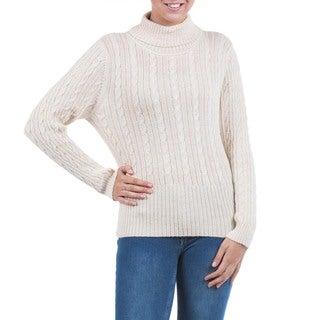 Alpaca Blend 'Winter Chic' Sweater (Peru)
