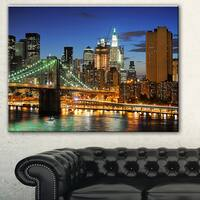 Big Apple after Sunset' Cityscape Photo Canvas Print - Brown
