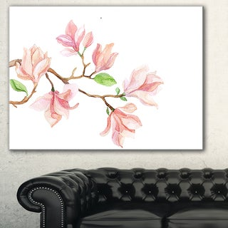 Mongolia Flower Painting' Watercolor Floral Art Canvas Print