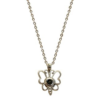 Child Essential Oil Diffuser Dragonfly Lava Stone Stainless Steel Chain 16-inch Necklace
