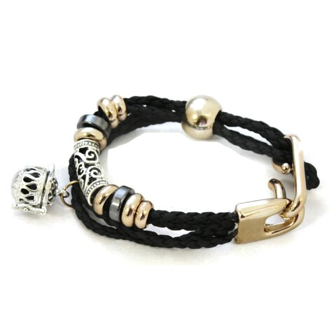 Elegance Essential Oil Diffuser Black Braid Bracelet