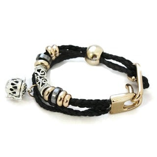 Destination Oils Lava Stone Diffuser Braided Black Bracelet