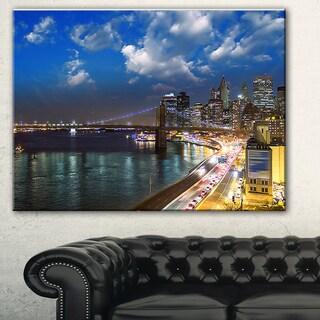 New York City Wonderful Sunset View' Cityscape Photo Canvas Print
