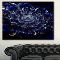 Blue Fractal Flower' Digital Art Floral Canvas Print