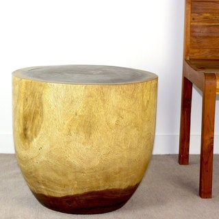 Handmade Haussmann in Antique Oak Oil Finished Oval Drum (Thailand)