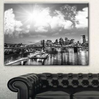Amazing Night in New York City' Cityscape Photo Canvas Print