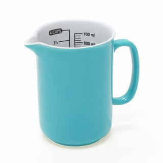 Chantal 4 Cup Ceramic Measuring Jug in Aqua