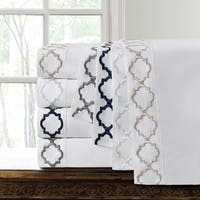 Hotel Collection Quatrefoil Embroidery Cotton Sateen Sheet Set