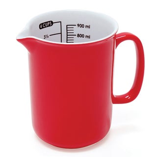 Chantal 4 Cup Ceramic Measuring Jug in Red