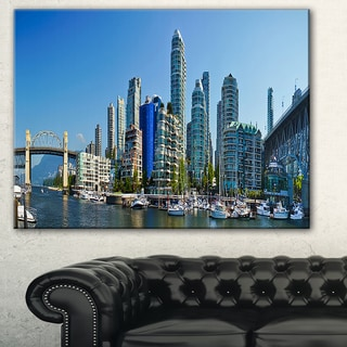 Beautiful View of Vancouver' Cityscape Photo Canvas Print