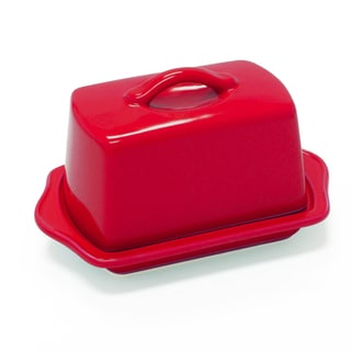Chantal European Ceramic Butter Dish in Red