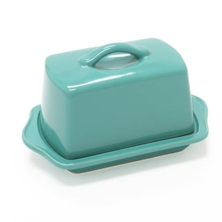 Chantal European Ceramic Butter Dish in Aqua