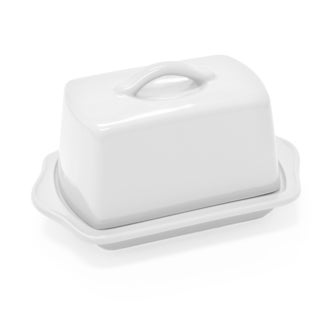 Chantal European Ceramic Butter Dish in White