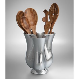 Nambe Tulip Tool Jug with 5-Piece Tool Set