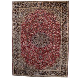 Herat Oriental Persian Hand-knotted 1960s Semi-antique Isfahan Wool Rug (11'4 x 14'10)