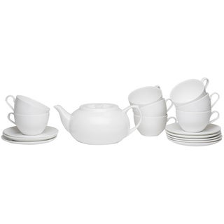 Pure Vanilla Tea Server Set with Cup & Saucers