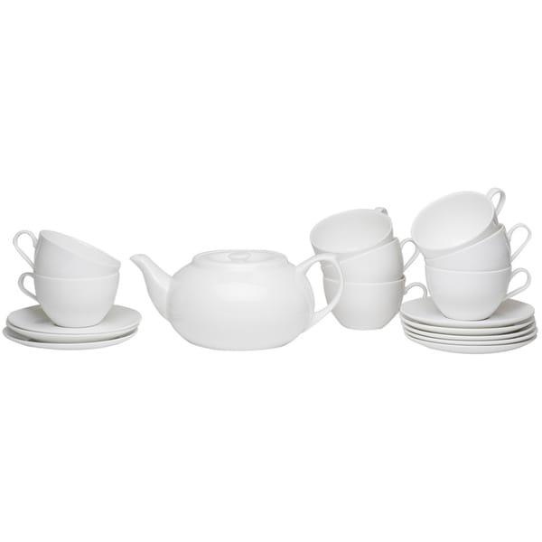 Pure Vanilla Tea Server Set With Cup Saucers