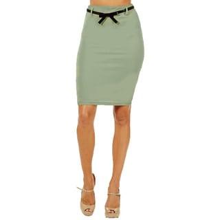 Women's High Waist Mint Pencil Skirt