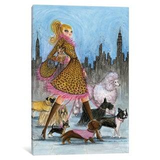 iCanvas 'Dog Day: Dogwalker' by Bella Pilar Canvas Print