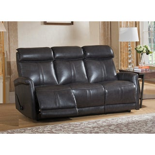 Mosby Top Grain Leather Lay-Flat Reclining Sofa