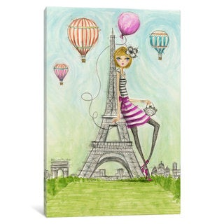 iCanvas 'See The Sights: Paris' by Bella Pilar Canvas Print