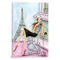 Maison Rouge 'World Traveler: Paris' by Bella Pilar Canvas Print