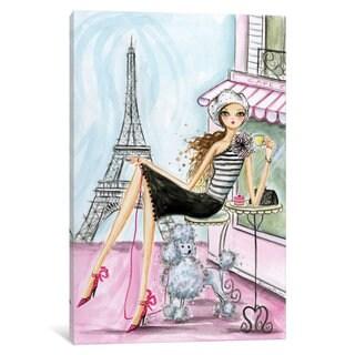 Maison Rouge 'World Traveler: Paris' by Bella Pilar Canvas Print