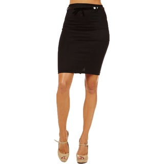 Women's High Waist Black Pencil Skirt