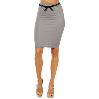 Women's High Waist Light Grey Pencil Skirt (3 options available)