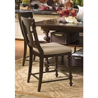 Paula Deen Home Counter Height Chair in Tobacco Finish