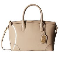 Lauren Ralph Lauren Tate Patent Leather Satchel Handbag