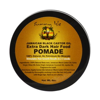 Sunny Isle 4-ounce Extra Dark Jamaican Black Castor Oil Hair Food Pomade