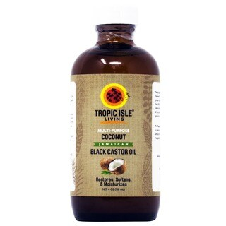Tropic Isle Living 4-ounce Black Castor Oil Coconut