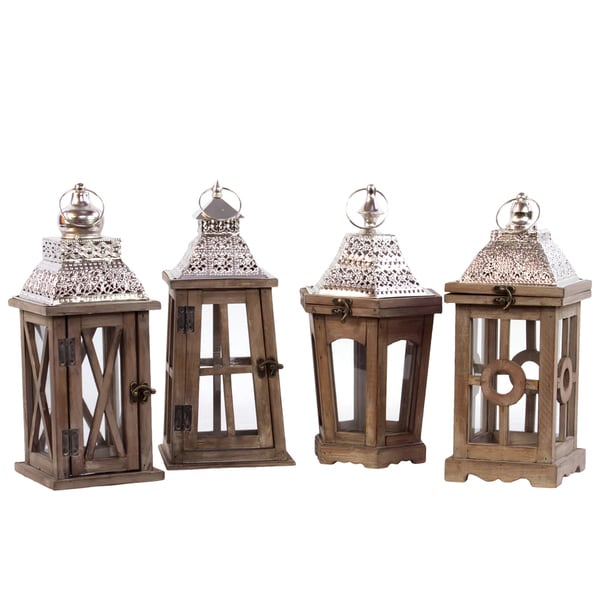 Shop Wooden Square Lanterns With Various Designs