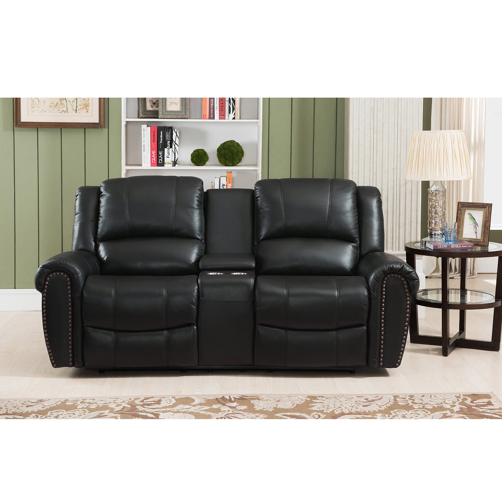 Amax Engineering Houston Top Grain Leather Reclining Love...