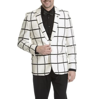 Stacy Adams Men's Windowpane Textured Sportcoat