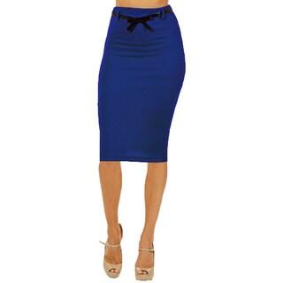 Women's High Waist Below Knee Pencil Skirt