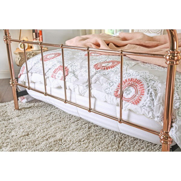 Furniture of America Melly Rose Gold Metal Bed - Free Shipping Today -  Overstock.com - 18559767