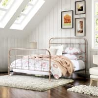 Maison Rouge Breton Rose Gold Metal Bed