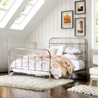 Furniture of America Melly Rose Gold Metal Bed