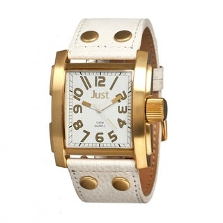 Just Men's JUS48-S8857GD-WH Bold White Watch