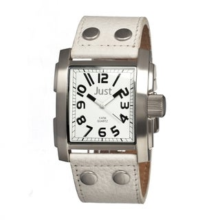 Just Men's JUS48-S8857WH Bold White Watch