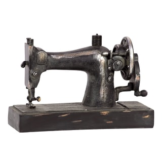 Vintage 1913 Singer Model 66 Hand Crank Painted Black Finish Sewing Machine Miniature Replica Sculpture