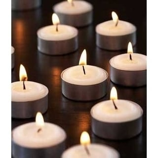 Set of 500 White Unscented Tealight Candles